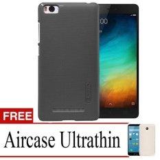 Case Nilkin Hard Protective For Xiaomi Mi4i + Free Ultrathin - Black