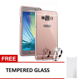 Jual Case Samsung Galaxy E5 Alumunium Bumper With Mirror Backdoor Slide Rose Gold Gratis Tempered Glass Baru