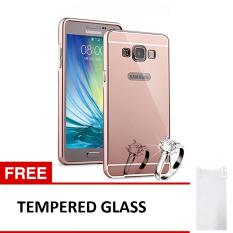 Beli Case Samsung Galaxy E5 Alumunium Bumper With Mirror Backdoor Slide Rose Gold Gratis Tempered Glass Case Asli