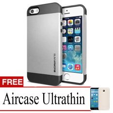 Case Slim Armor Hard Protective For Iphone 5  + Ultrathin- Silver