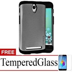 Case Slim Armor Hard Protective For Zenfone C + Tempered Glass - Hitam