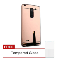 Casing Metal Aluminium Case LG G3 Stylus  - Rose Gold + Free Tempered Glass