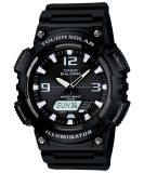 Model Casio Analog And Digital Watch Aq S810W 1Av Jam Tangan Pria Hitam Rubber Terbaru