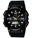 Jual Casio Analog And Digital Watch Aq S810W 1Bv Jam Tangan Pria Hitam Rubber Grosir