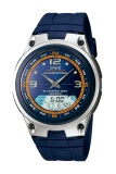 Jual Casio Analog Digital Fishing Gear Watch Aw 82H 2Avdf Jam Tangan Pria Karet Biru Grosir