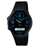 Casio Analog Digital Watch Aw 90H 2Bvdf Jam Tangan Unisex Karet Hitam Murah