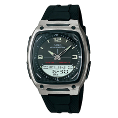Review Casio Analog Digital Watch Jam Tangan Pria Hitam Resin Band Aw 81 1A1Vdf Banten