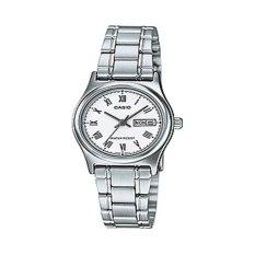 Casio Analog Jam Tangan Wanita - Putih - Strap Rantai - LTP-V006D-7B