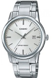 Obral Casio Analog Watch Jam Tangan Pria Silver Stainless Steel Band Mtp V002D 7Audf Murah
