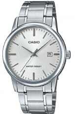 Toko Jual Casio Analog Watch Jam Tangan Pria Silver Stainless Steel Band Mtp V002D 7Audf