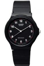 Harga Hemat Casio Analog Watch Jam Tangan Unisex Hitam Strap Karet Mq24 1Bldf