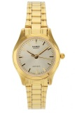 Casio Analog Watch Jam Tangan Wanita Gold Stainless Steel Band Ltp 1275G 9Adf Casio Murah Di Banten