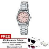 Review Terbaik Casio Analog Watch Jam Tangan Wanita Silver Stainless Steel Ltp V006D 4Budf Free Kacamata Aviator Termasuk Kotak Kacamata Dan Lap Kacamata
