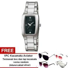 Casio Analog Watch - Jam Tangan Wanita - Silver - Strap Stainless Steel - LTP-