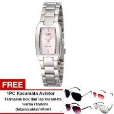 Beli Casio Analog Watch Jam Tangan Wanita Silver Strap Stainless Steel Ltp 1165A 4Cdf 1Pc Kacamata Aviator Dengan Warna Random Termasuk Kotak Kacamata Dan Lap Kacamata Secara Angsuran