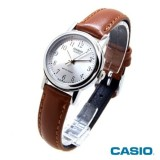 Promo Casio Analog Watch Ltp 1095E 7B Jam Tangan Wanita Coklat Leather Akhir Tahun
