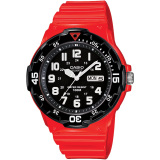 Jual Casio Analog Watch Mrw 200Hc 4Bvdf Jam Tangan Pria Merah Rubber Import