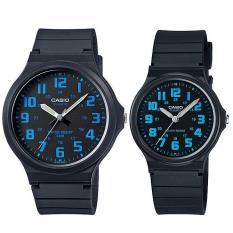 Spesifikasi Casio Couple Watch Jam Tangan Couple Hitam Strap Karet Sporty Couple Merk Casio