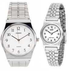 Harga Casio Couple Watch Jam Tangan Couple Silver Strap Stainless Steel 333 Yang Murah Dan Bagus
