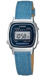 Toko Casio Digital Watch Jam Tangan Wanita Biru Leather Strap La670Wl 2A2Df Lengkap
