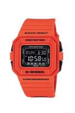 Casio G-SHOCK Pria Resin Oranye Tali DW-D5500MR-4