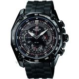 Beli Casio Men S Edifice Ef 550Bk 1Av Black Stainless Steel Quartz Watch With Black Dial Cicilan