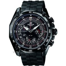 Casio Men's Edifice EF 550BK-1AV Black Stainless-Steel Quartz Watch with Black Dial