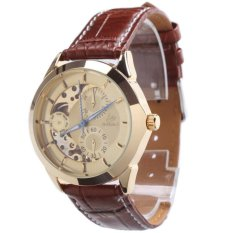 Casual Leather Automatic Mechanical Sport Wrist Watch 000050 Brown Di Tiongkok