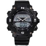 Casual Pria Luar Ruangan Sport Watch Karet Tahan Air Digital Alarm Lcd Tanggal Jam Tangan Hitam Oem Diskon