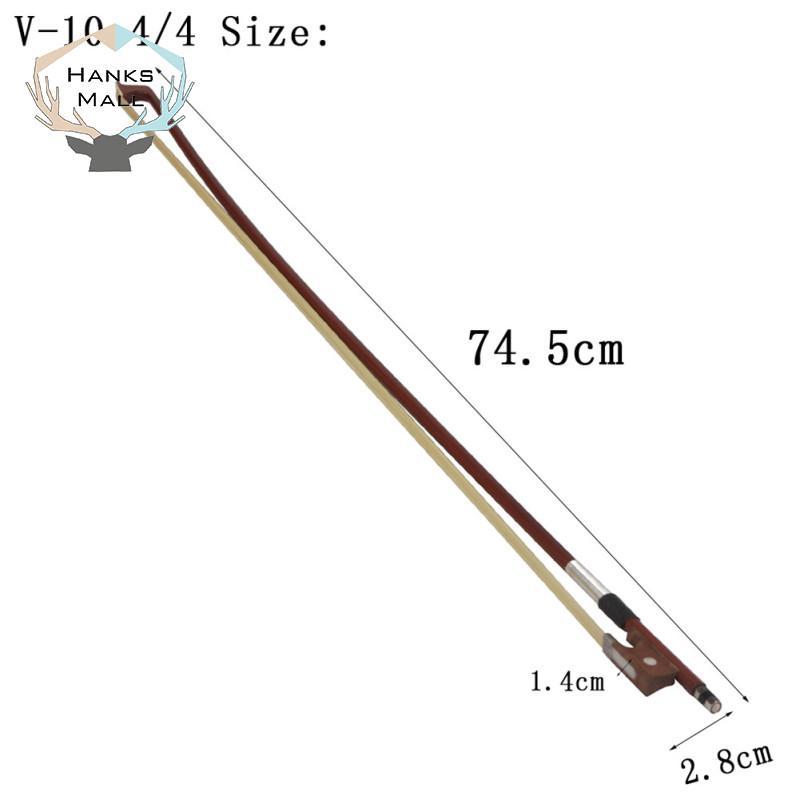 HK 4/4 Vĩ Cầm Nơ Cho Âm Violin/Fiddle 4/4 Vĩ Cầm Cung Cho Học Sinh Sinh Viên Mới Bắt Đầu 75CM