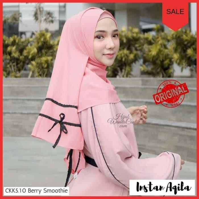 PROMO Pashmina Instan Hijab Jilbab Kerudung Pastan Instan Aqila Terbaru - Cream TERBARU