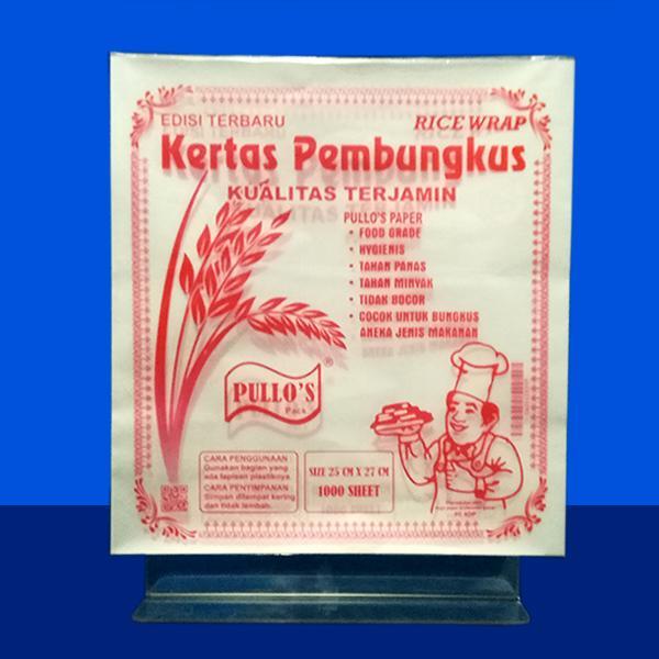 Pullos Kertas Pembungkus Makanan Siap Saji Isi 1000 Lbr Size 27 X 25 By Kdp Store.