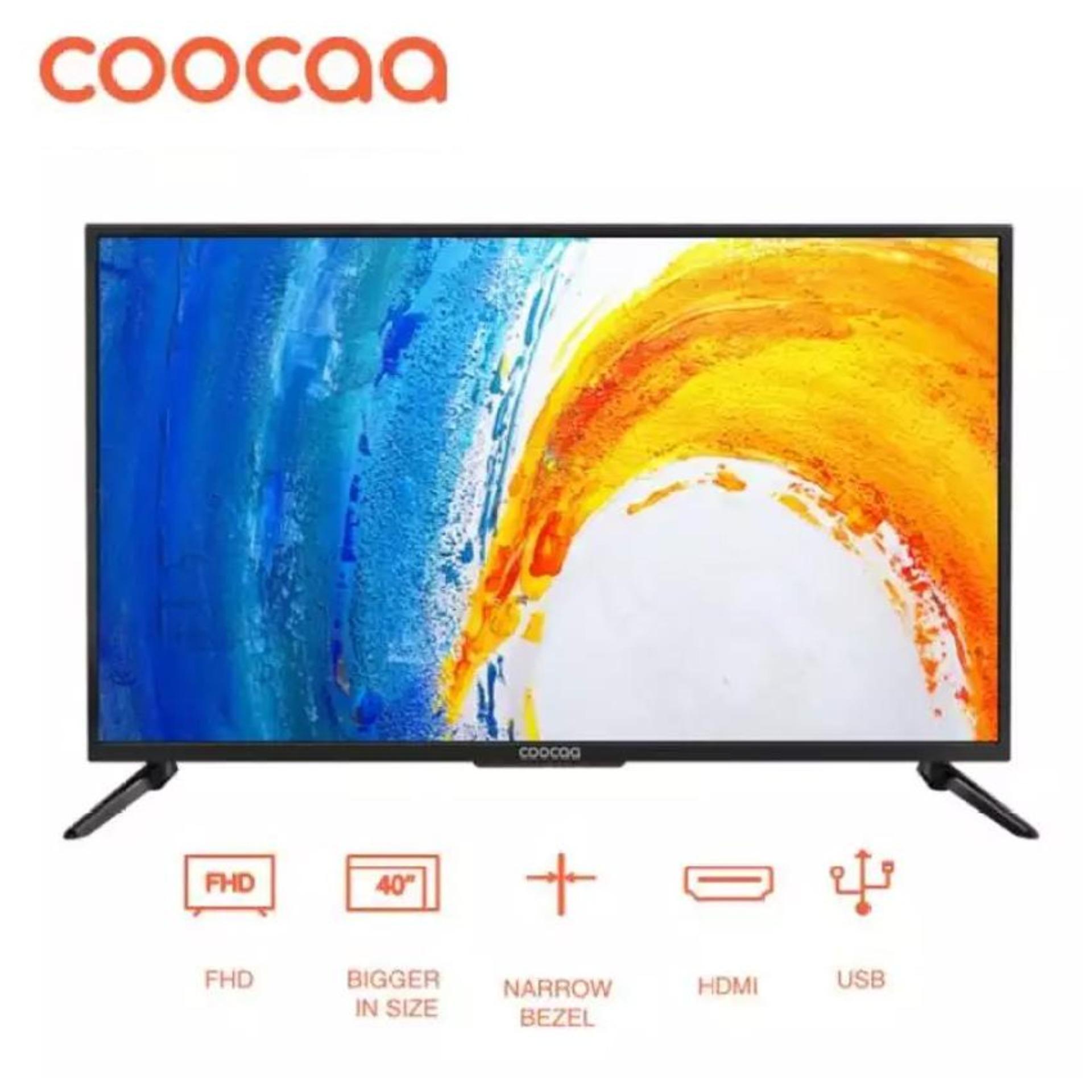 [Pre-Order, Mulai Dikirim 16 Nov 2019] COOCAA LED TV 40 inch - Full HD Panel - Slim - USB/HDMI (Model : 40D5A) [GRATIS ONGKIR]