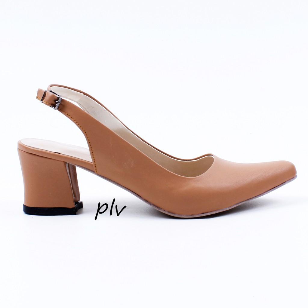 BnG Corner - PAULA Block High Heels Wanita Slingback PVS