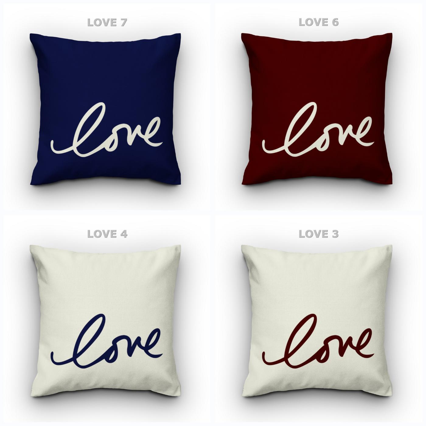 Love Sarung Bantal Sofa Kursi Tamu (Hanya Sarung) - Xaiver