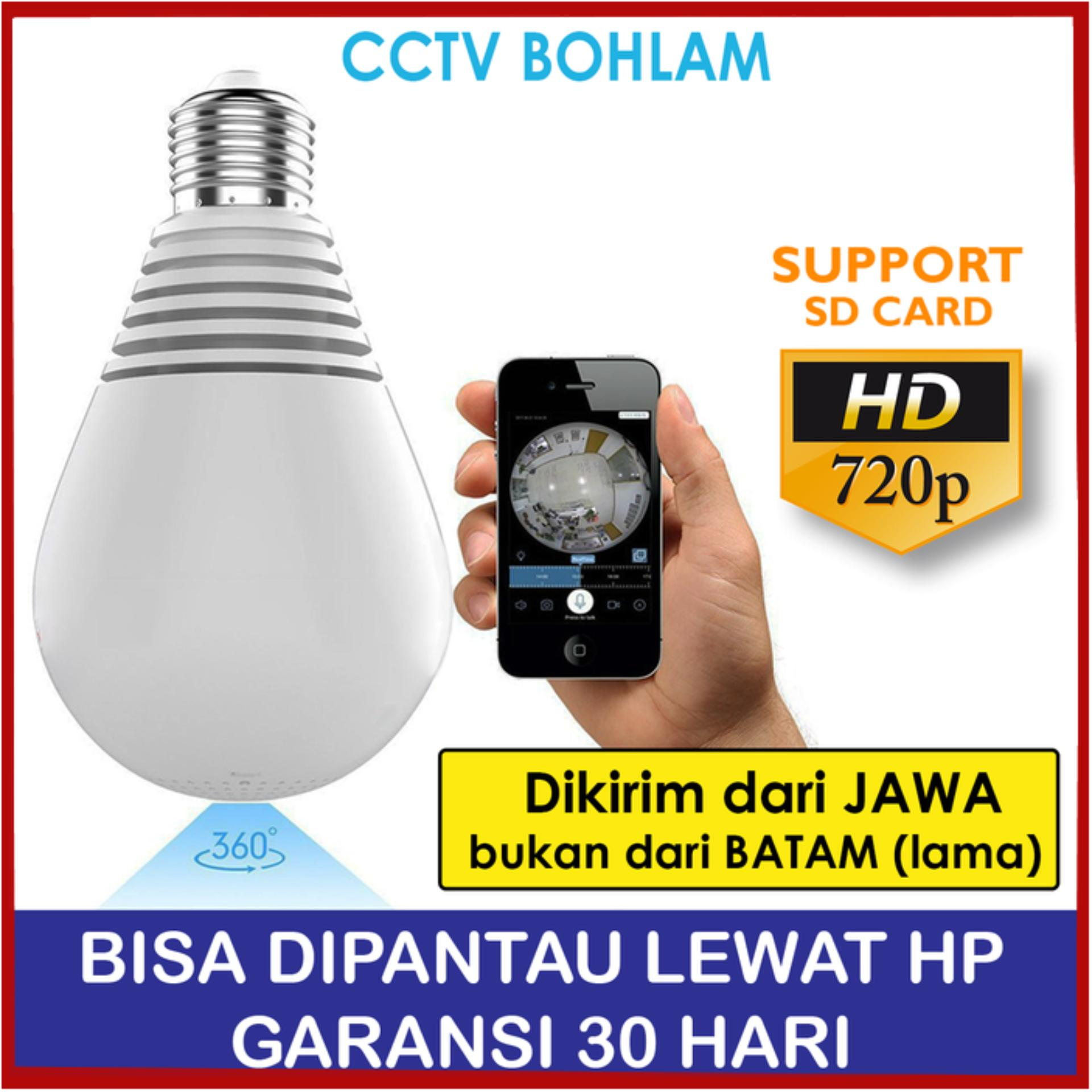 V1 SELALU ADA - IP Camera Cctv Wifi Bohlam Lampu 2Mp 1080P Panoramic 360