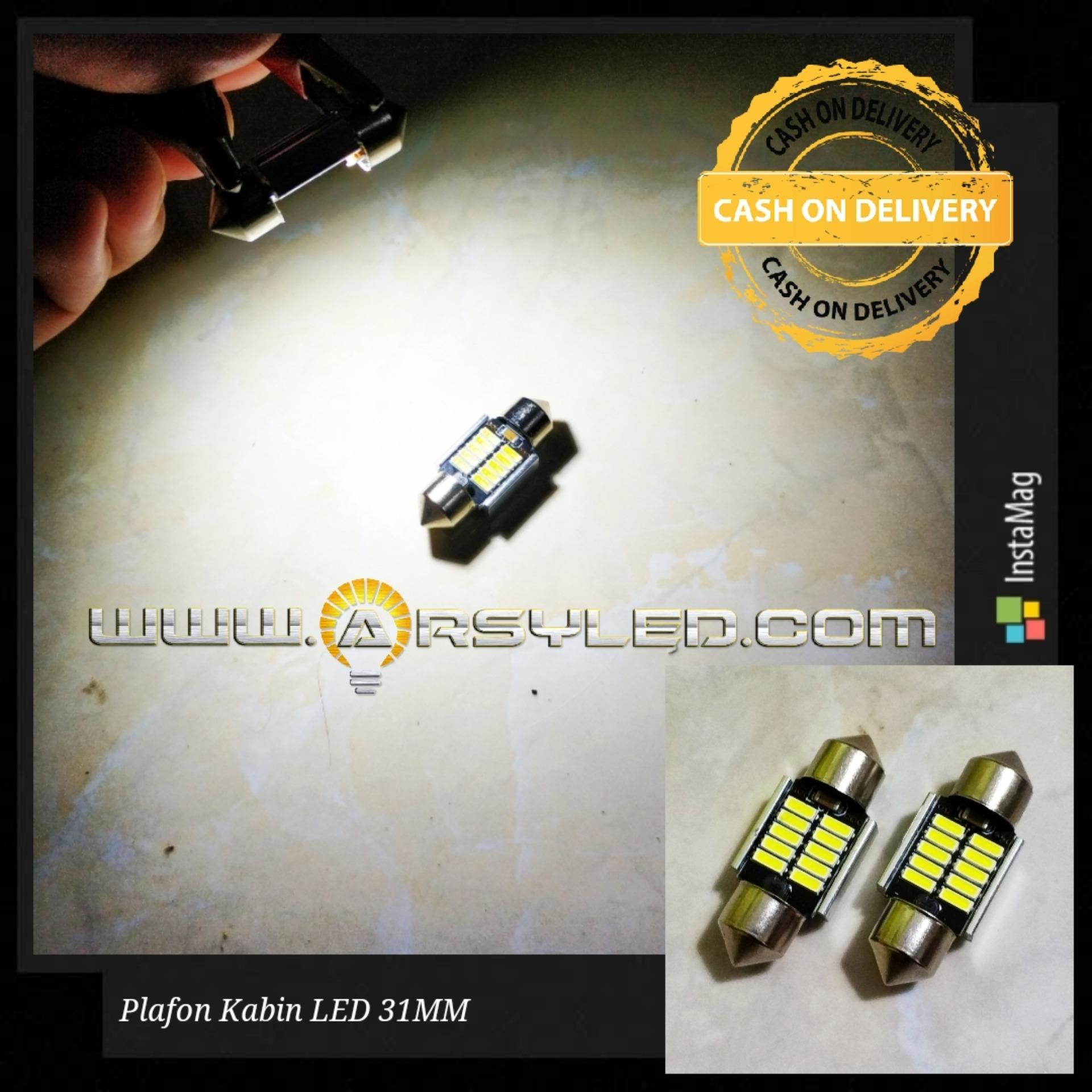 2 Biji Lampu Kabin Plafon Avanza Xenia Sigra calya alya agya Festoon CANBUS 31 mm Gen2 Arsystore - Putih