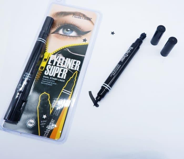 Mesh Eyeliner DUAL STAMP 2IN1 - Black Eye Liner Pichu Flower Dual Stamp 2 in 1 ...