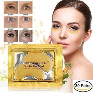 Masker Mata Crystal Collagen Gold - Masker Mata Panda Hitam - Rosotena Eye Mask 6gr isi 2 (SEPASANG MATA) thumbnail