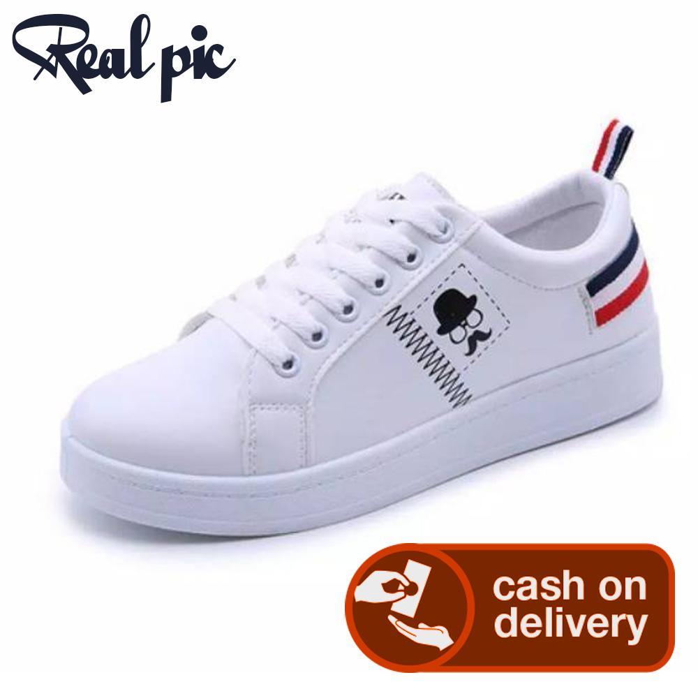 Sepatu wanita Sneakers Poxing keren Kumis Putih (Sepatu Trendy Masa Kini) PROMO HANYA SAMPAI 22 SEPTEMBER SAJA