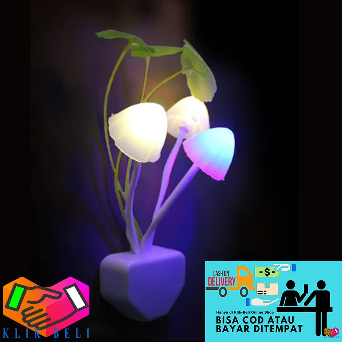 Klik-Beli Lampu Tidur Jamur Sensor Cahaya LED Avatar Hias Kamar