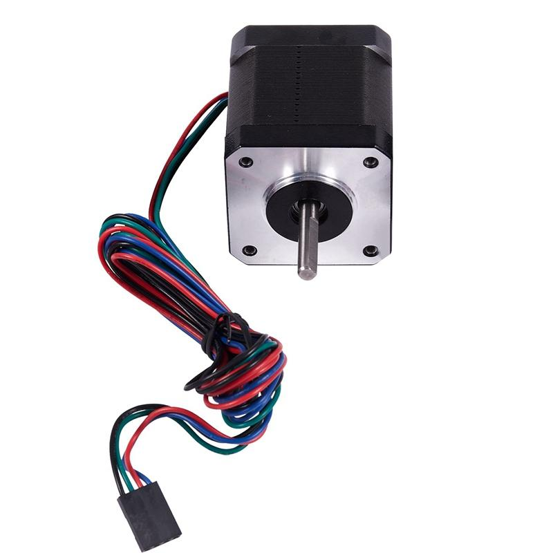Nema 17 Stepper Motor 1.8 Degrees Step Angle 2A 24V 4-lead 17HS19-2004S1 Motor 59Ncm 1m Cable for 3D Printer CNC XYZ Motor