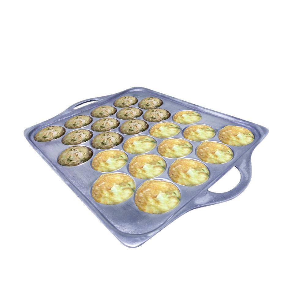 Cetakan cekung Telur Goreng Mini 24 Lubang aluminium tebal - Cetakan Telur / Cetakan kue /