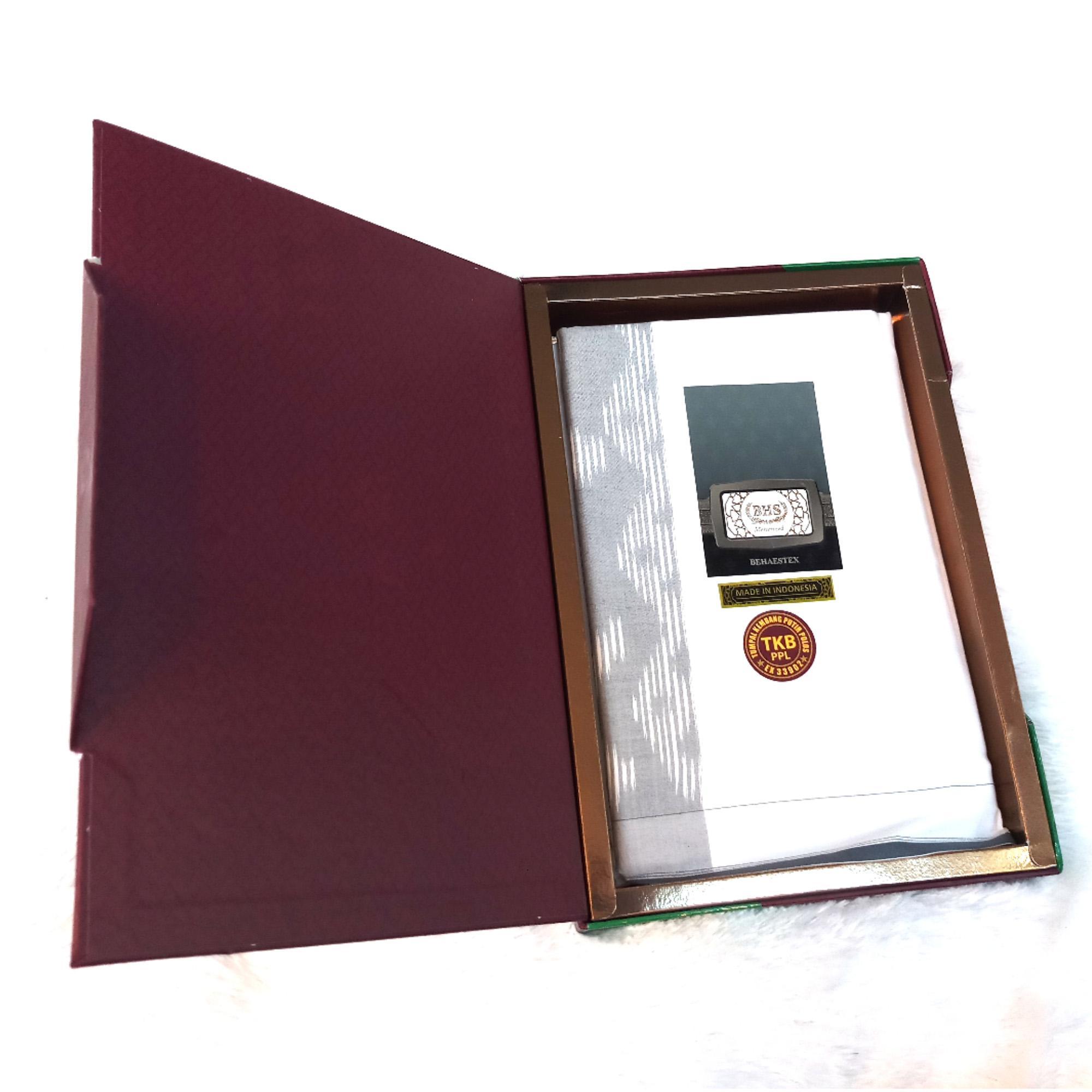 Sarung BHS Mercerized Original Hitam dan Putih Polos Mesres Murah Premium (ASLI) Bukan Afkir - Jaya Makmur Leo
