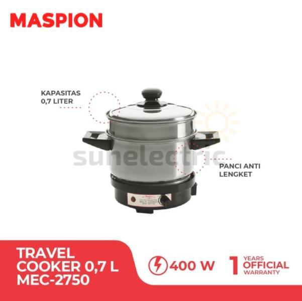 Maspion Multi Cooker Alat Masak Serbaguna Maspion 400 W 0.75 L Mec-2750 - Silver By Sun Electric.