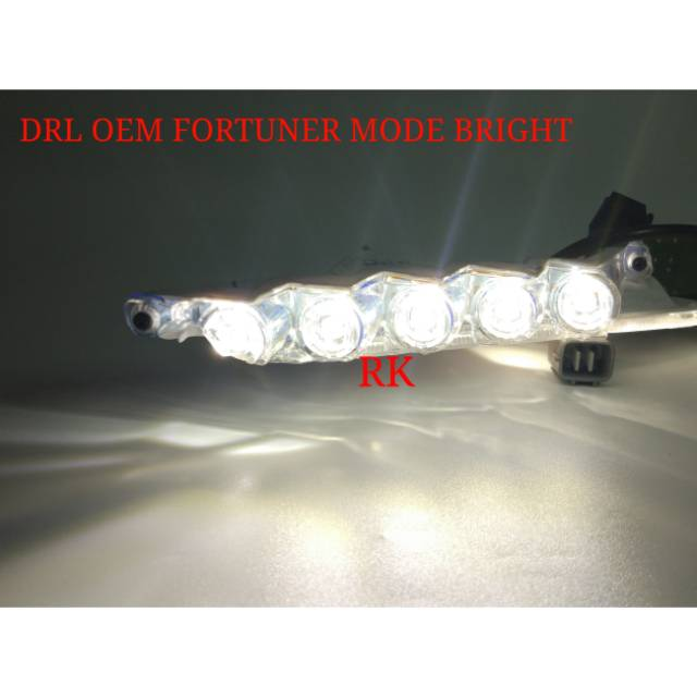 DRL VRZ COPOTAN ORIGINAL - LAMPU DRL LED OEM FORTUNER VRZ