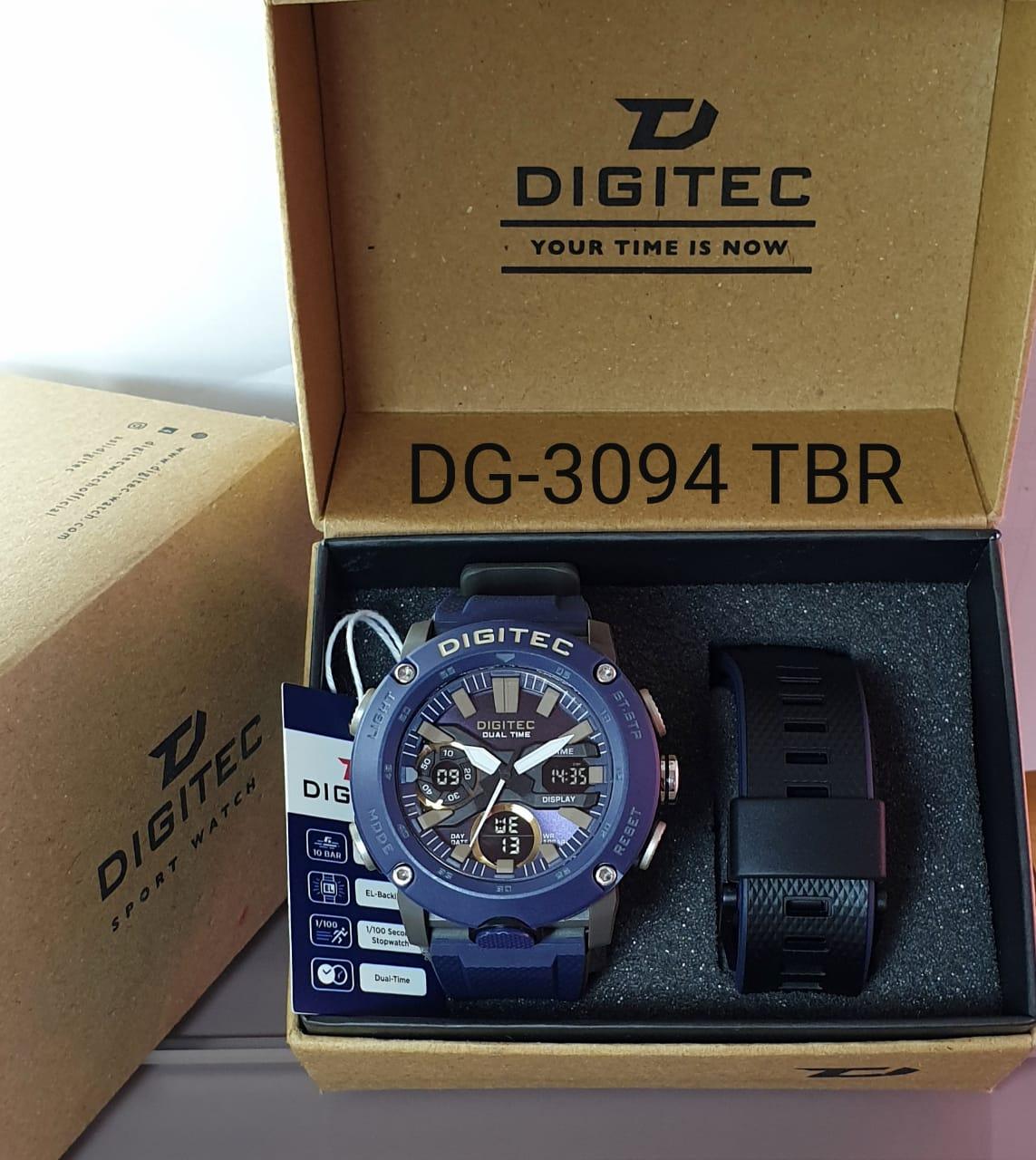 [COD] DG-3094 - JAM TANGAN PRIA DIGITEC DG-3094 DUAL TIME SET FREE BOX + TALI CADANGAN SWM1900