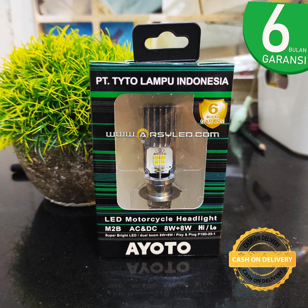 Lampu LED Motor Matic Bebek Universal Bisa COD - Beat Vario Jupiter Mio Supra fit Supra X Kharisma skydrive fino - AYOTO M2B / PRO