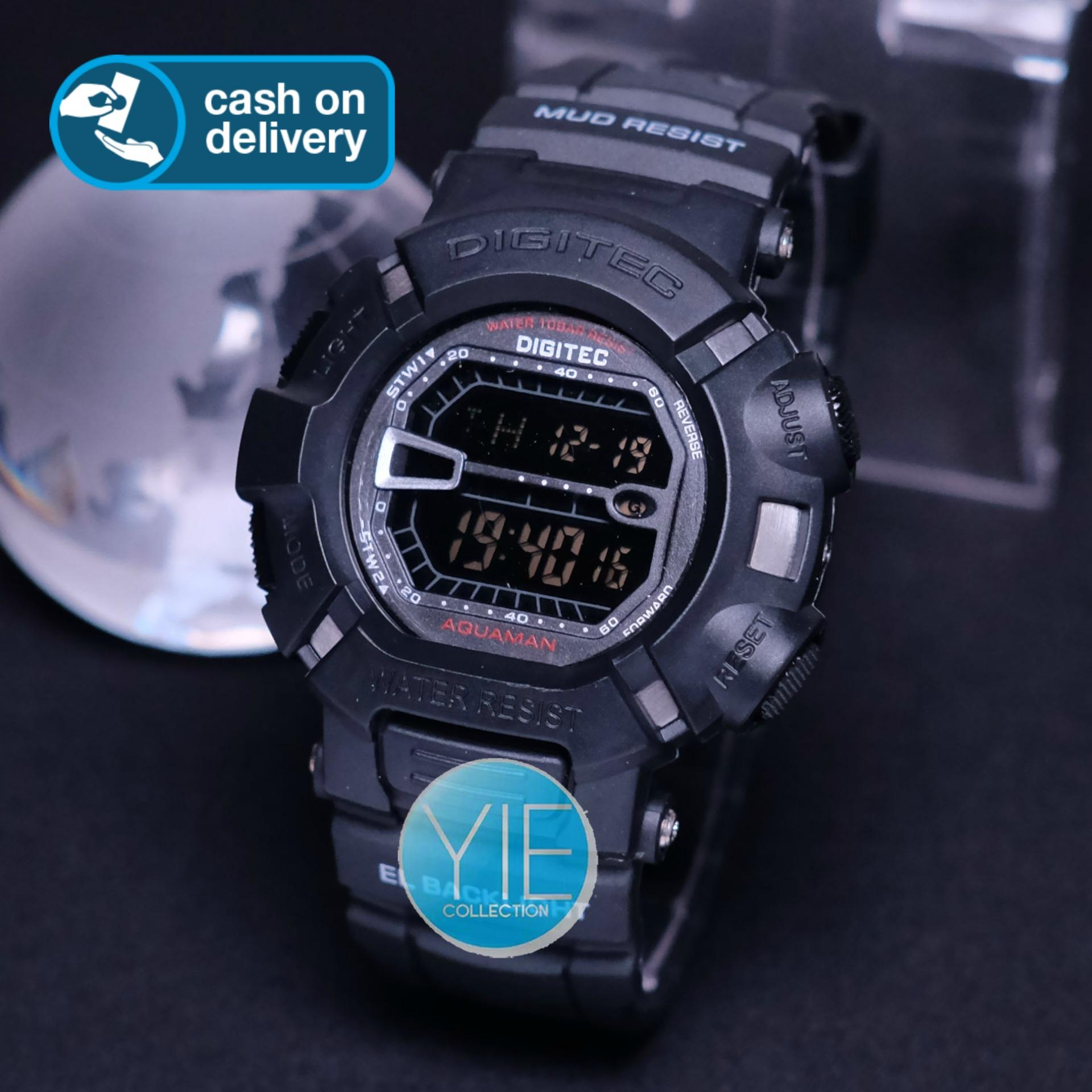 Jam Tangan Sport Pria Digitec DG 2095 T Original Anti Air