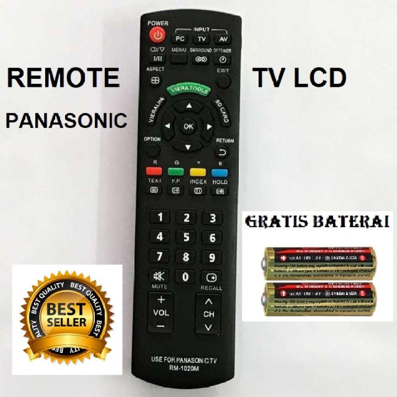Remot Remote TV Panasonic LCD LED Gratis Baterai Original Pabrik Panasonik Hitam/MSS27